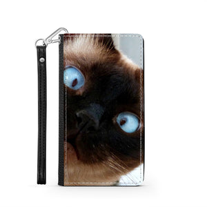 Handmade Wallet Style Phone Case - Scaredy-cat-Accessories, Wallet Case, phone case-Northern Treasure