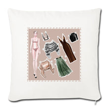 "Load image into Gallery viewer, Fashion Game by AhVero Throw Pillow Cover 18"" x 18""-Throw Pillow Cover 18"" x 18"", ahvero, royalty, home decor-Northern Treasure"