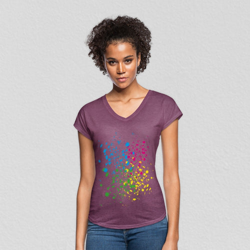 Customizable Women's Tri Blend V-Neck Tee-Women's Tri-Blend V-Neck T-Shirt, Make it Your Own, apparel-Northern Treasure