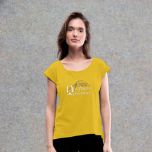 Load image into Gallery viewer, Customizable Women's Roll Cuff T-Shirt-apparel, tops, Women's Roll Cuff T-Shirt-Northern Treasure