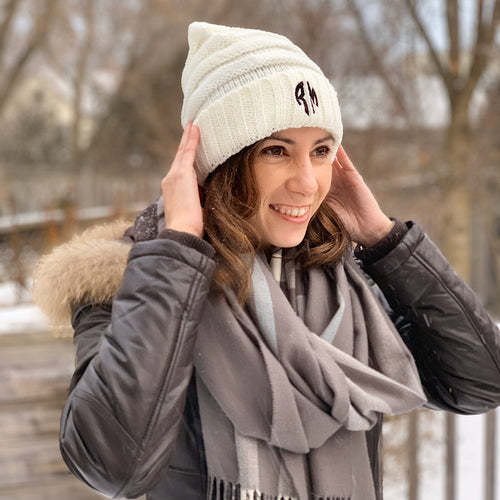 Custom Monogrammed Beanie-Monogrammed Beanie Personalized, accessories, make it your own-Northern Treasure