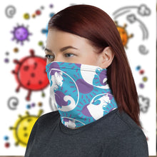 Load image into Gallery viewer, COVIDCATS Neck Gaiter-Accessories, Cat couture, face mask, Royalty-Northern Treasure