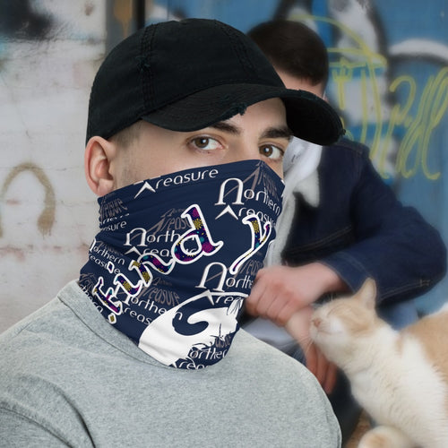 The New Coronavirus Neck Gaiter-Accessories, Cat couture, face mask, Royalty-Northern Treasure