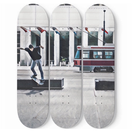 Customizable 3 Skateboard Wall Art-3 Skateboard Wall Art, home decor, make it your own, Customizable-Northern Treasure