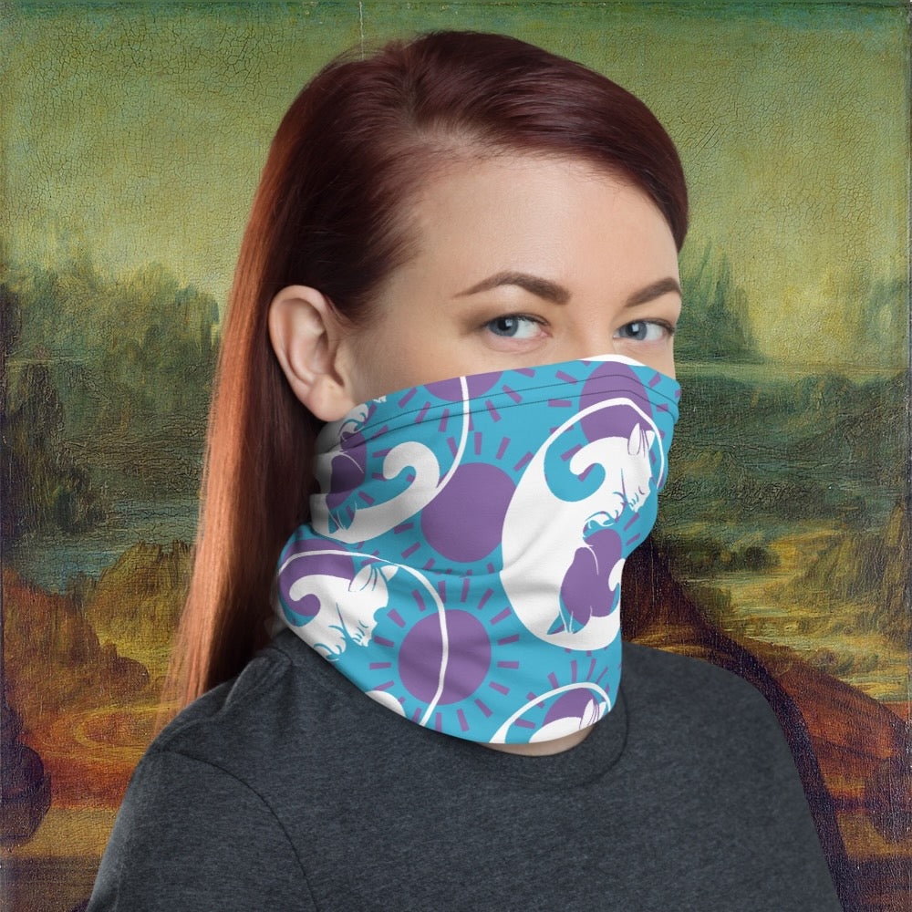 COVIDCATS Neck Gaiter-Accessories, Cat couture, face mask, Royalty-Northern Treasure