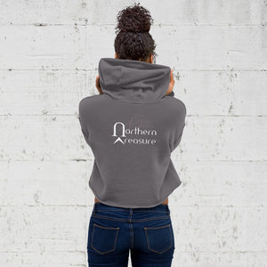 Customizable Women's Crop Hoodie-apparel, hoodies, make it your own-Northern Treasure