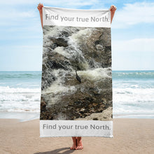 Load image into Gallery viewer, Find your true North Beach Towel-Beach, Towel-Northern Treasure
