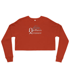 Customizable Women's Fleece Crop Sweatshirt-apparel, tops, make it your own-Northern Treasure