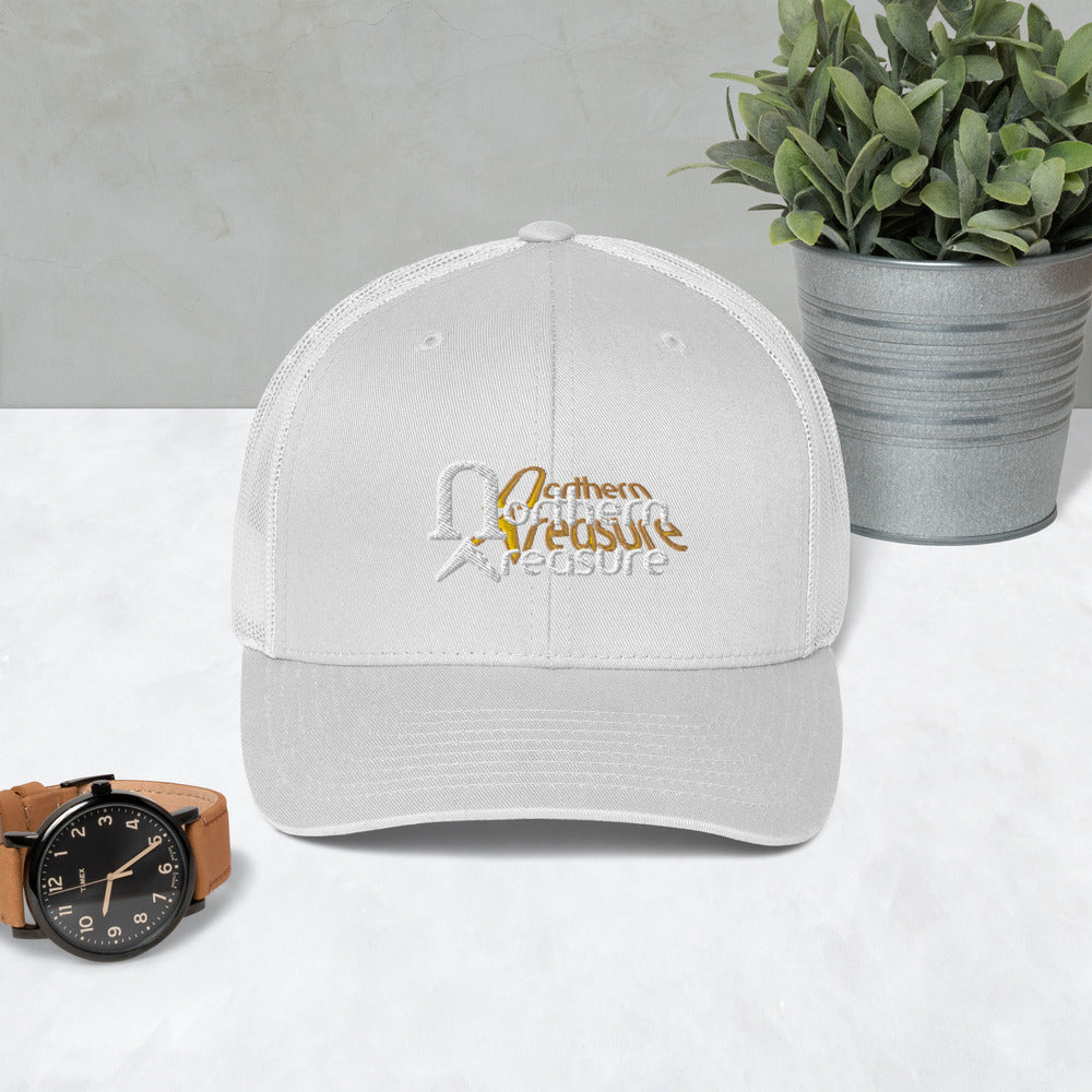 Embroidered Retro Trucker Cap-accessories, hats-Northern Treasure