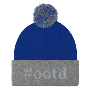 Custom Monogrammed Pom-Pom Beanie-accessories, make it your own, beanie-Northern Treasure