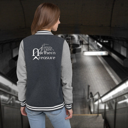 Customizable Women's Letterman Jacket-apparel, make it your own, jackets-Northern Treasure