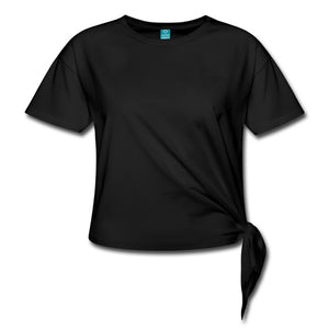 Customizable Women's Knotted T-Shirt-Women's Knotted T-Shirt, make it your own, apparel, top, cat-Northern Treasure