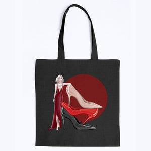Girl and Shoes by AhVero Tops & Tote-Apparel, royalty, ahvero-Northern Treasure