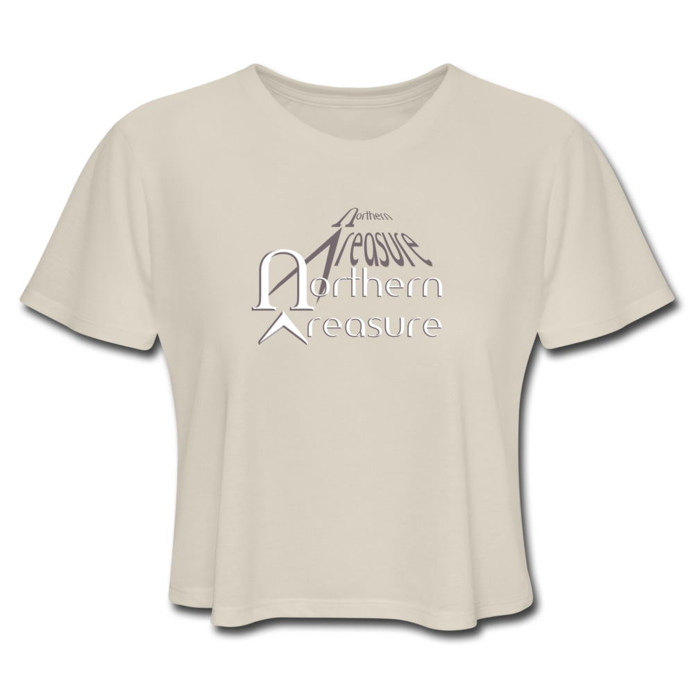 Customizable Women's Cropped T-Shirt-apparel, tops, Women's Cropped T-Shirt-Northern Treasure