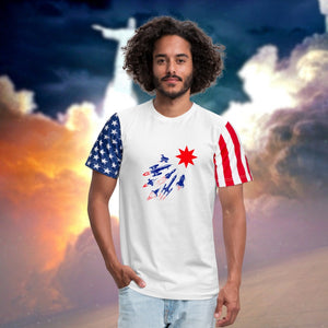Stars & Stripes Space T-Shirt-Stars & Stripes T-Shirt, apparel-Northern Treasure