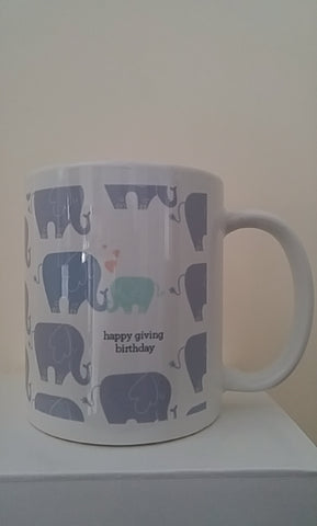 Giving Birthday Elephant Mug