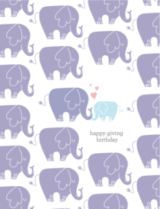 HGB Mini Elephant Card