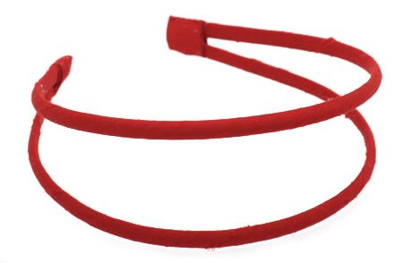 L. Erickson Usa 1/4  Double Skinny Ultra Comfort Headband - Silk Dupioni Cherry