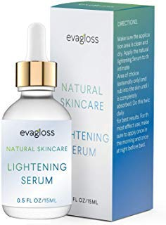Lightening Serum With Kojic Acid, Dark Spot Corrector Remover For Face &Amp; Body, Natural Gentle Skin Brightening &Amp; Bleaching Cream, Lightens Private, Sensitive Areas 15Ml By Evagloss