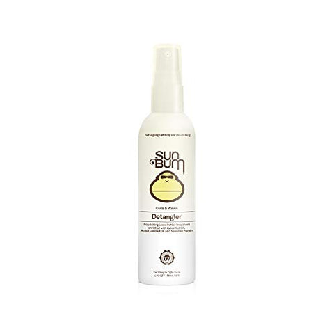Sun Bum Curls &Amp; Waves Detangler Spray - Leave In Hair Treatment - Detangling Spray For Curly Hair - Sulfate Free - Frizz Control - 4 Fl Oz Spray Bottle - 1 Count