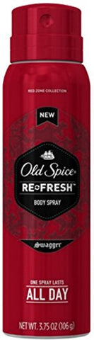 Old Spice Re-Fresh Body Spray, Swagger 3.75 Oz