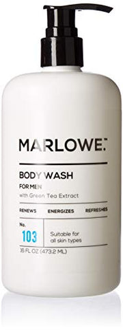 Marlowe. No. 103 Men'S Body Wash 16 Oz | Energizing &Amp; Refreshing | Made With Natural Ingredients | Aloe &Amp; Green Tea Extracts