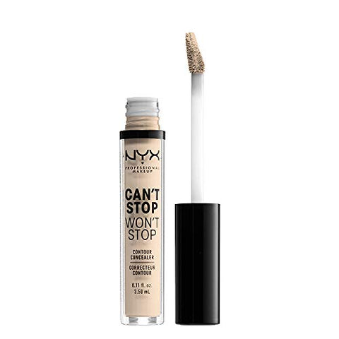 Nyx Professional Makeup Can'T Stop Won'T Stop Contour Concealer, Fair, 0.11 Ounce