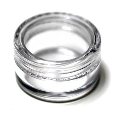 10Ml Empty Plastic Cosmetic Jars X 10 Clear With Clear Lids For Creams/Sample Makeup Creams Eye Shadow Powder Storage Container Bottle