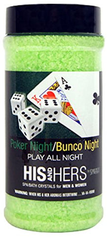Spazazz Spz-901 Poker/Bunco Night Play All His And Hers Novelty Crystals Container, 17 Oz.