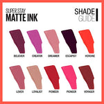Maybelline Superstay Matte Ink Liquid Lipstick, Lover, 2 Count