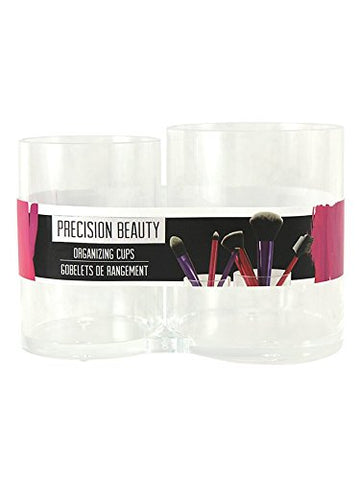 Precision Beauty - Duo Organizing Cups, Great For Traveling Or At Home Use