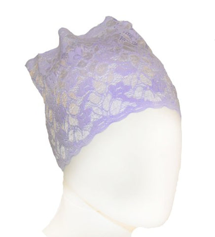 Lavender Lace Under Scarf Headband (Hijab Accessory)
