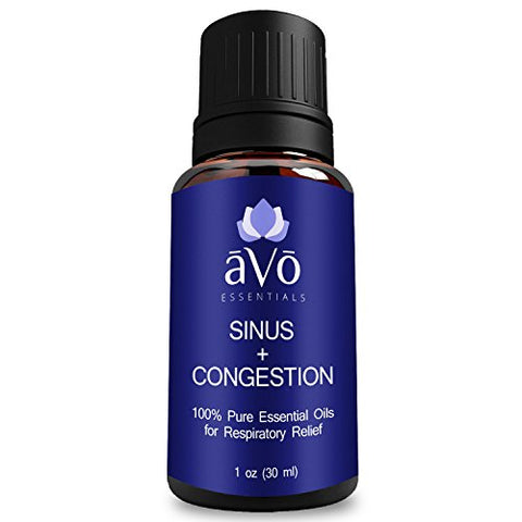 Sinus Relief, Congestion, And Allergy Blend By V, 100% Therapeutic Grade Essential Oils, Effective Natural Relief For Nasal And Respiratory Congestion, Sinus Pressure, And Cough- 1 Ounce (30 Ml)