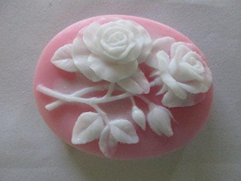 Decorative Handmade Soap Pink Cameo 3 X2-1/2