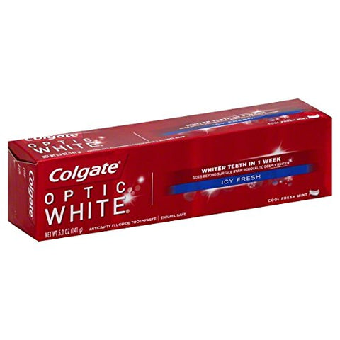 Colgate Optic White Toothpaste, Icy Fresh, 5 Ounce