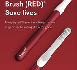 Quip Metal Electric Toothbrush - Electric Brush And Travel Cover Mount - (Product Red) - Frustration Free Packaging