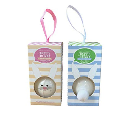 Bunny Bath Bomb Fizzers Bubble Gum And Jelly Bean Scented Set Of 2