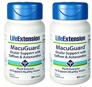 Life Extension Macuguard Ocular Support With Saffron &Amp; Astaxanthin, 60 Softgels