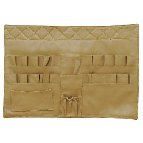 Makeup Artist Cosmetic Brushes Tools Apron Bag Case With Belt Strap-Khaki