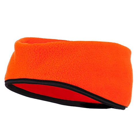 Earband With Binding - Blaze Orange Osfm