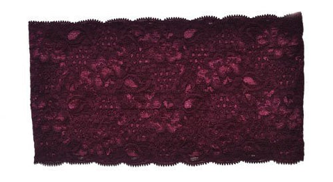 Zaffron Women'S Lace Under Hijab Headband Burgundy
