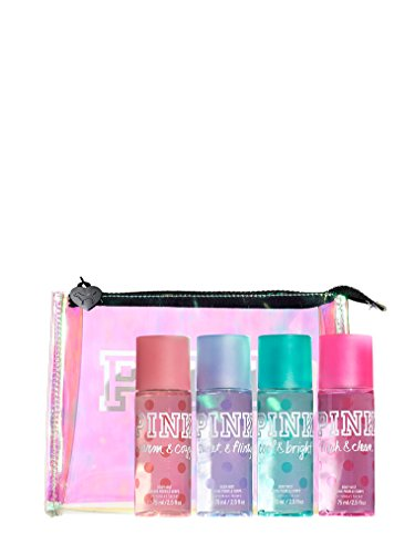 Victoria'S Secret Pink Body Mist Gift Bag: Fresh &Amp; Clean, Warm &Amp; Cozy, Sweet &Amp; Flirty, Cool &Amp; Bright