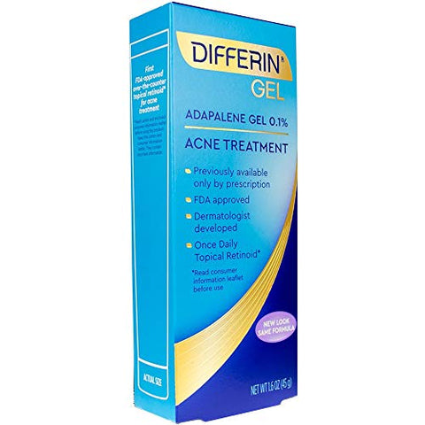 Differin Adapalene Prescription Strength Retinoid Gel 0.1% Acne Treatment (Up To 90 Day Supply), 45 Gram