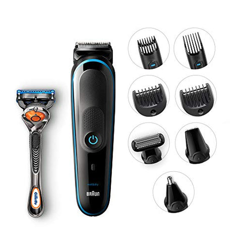 Braun 9-In-1 All-In-One Trimmer Mgk5080 Beard Trimmer &Amp; Hair Clipper