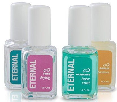 Eternal Nail Treatment Set - Perfect Nails Collection: Hardener, Gel Top Coat, Hydrating Base Coat &Amp; Fast Drying Polish - 0.46 Oz