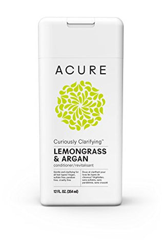 Acure Curiously Clarifying Lemongrass Conditioner, 12 Fl. Oz. (Packaging May Vary)