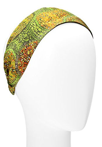 L. Erickson Usa Scarf Headband - Yellow Multi