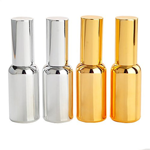 1 Pcs 30Ml Upscale Empty Gold Plated Silver Plated Refillable Glass Protable Perfume Pen Sprayer Atomizer Spray Bottle Vial Container Pot Jar Best For Travel Packing (Gold)