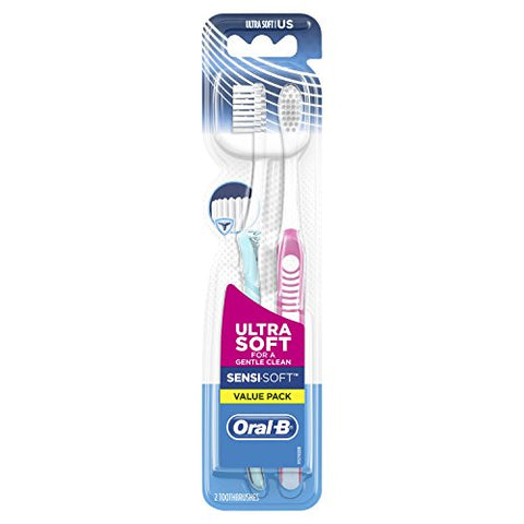 Oral-B Sensi-Soft Toothbrushes, Ultra Soft, 2 Count