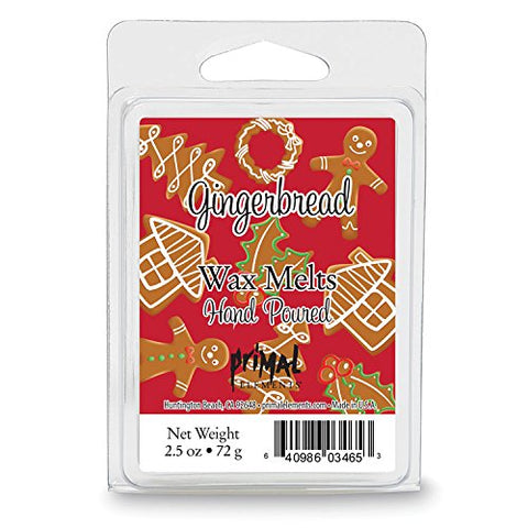 Primal Elements Gingerbread Wax Melt, 2.5 Ounce